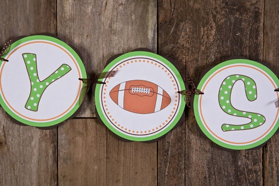 Football Themed BABY SHOWER It's a Boy by getthepartystarted