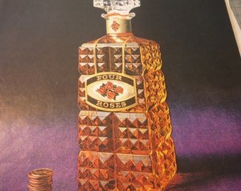 Vintage Ad  - Four Roses - Mad Men style - 1960s original whiskey ad