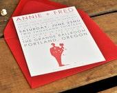 Darling Couple Wedding Invitation