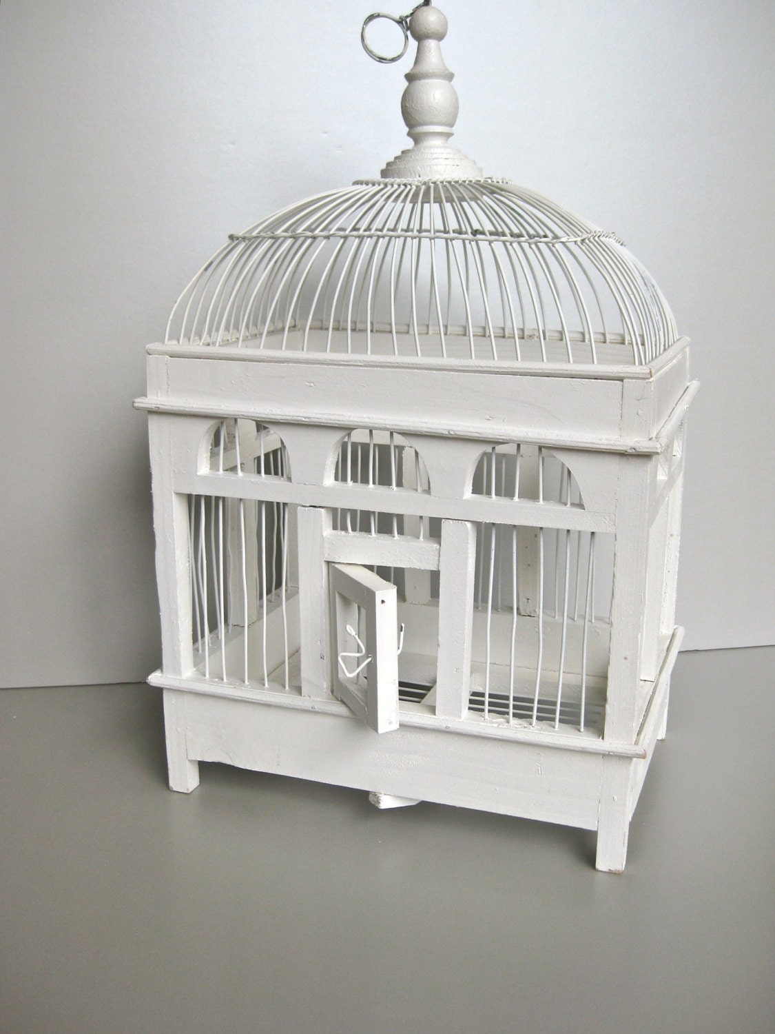 Vintage Bird Cage White Bird Cage Shabby And Chic By Swede13
