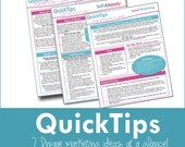 Bath and Beauty Sellers-- Marketing and Promotion tipsheet -1 page QuickTips
