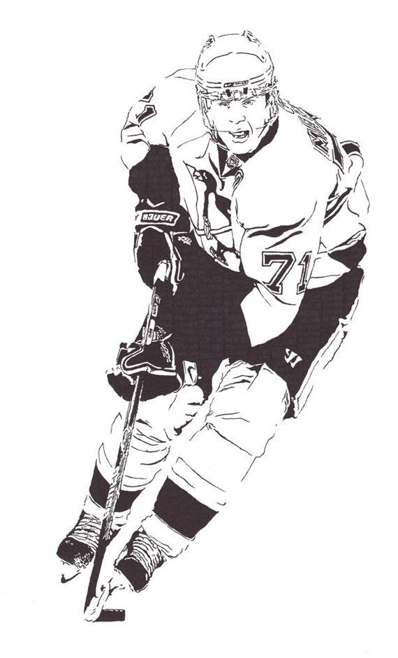 Evgeni Malkin - Pittsburgh Penguins Center - Original Illustration