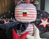 Primitive Patriotic Bee Wall or Door Hanger ~ MADE TO ORDER