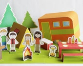 Printable camping set - PDF paper craft