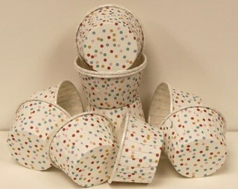 Cupcake Baking Cups, 20 Cupcake Cup Liners, Confetti Sprinkle Dots, Cupcake Baking Cups, BIrthday, Baby Shower, Ice Cream Cups, Candy Cups