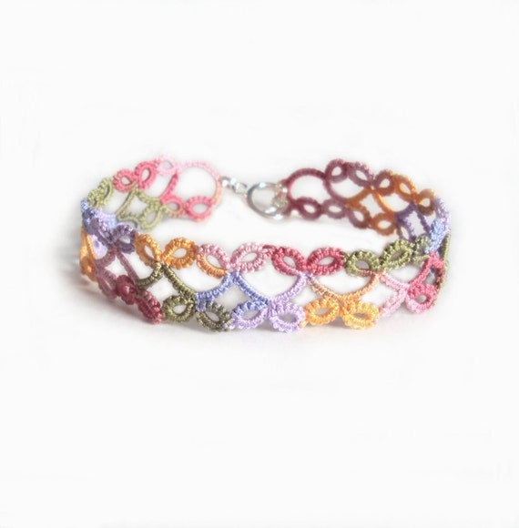 Summer Fashion Bracelet in Tatting - Lillian - Small