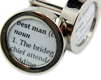 Definition of  BEST MAN - Wedding - Cuff links by Gwen DELICIOUS Jewelry Design