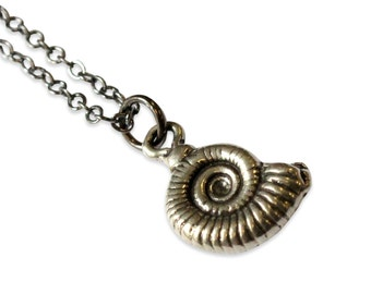 Two for One Sale....Ammonite Fossil Necklace 133