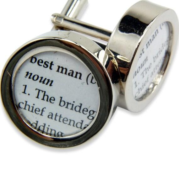 Definition of  BEST MAN - Wedding - Cuff links by Gwen DELICIOUS Jewelry Design