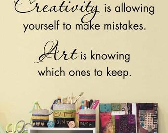 Creativity Wall Decal - Art Studio Decal - Craft Room Wall Decal - Medium