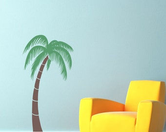 Palm Tree Wall Decal - Tropical Wall Decor - 48 inches high - Large size