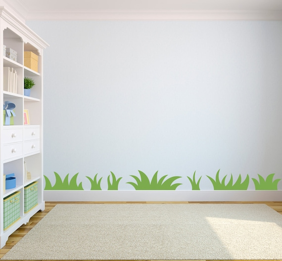 grass wall decal nature wall art for kids by