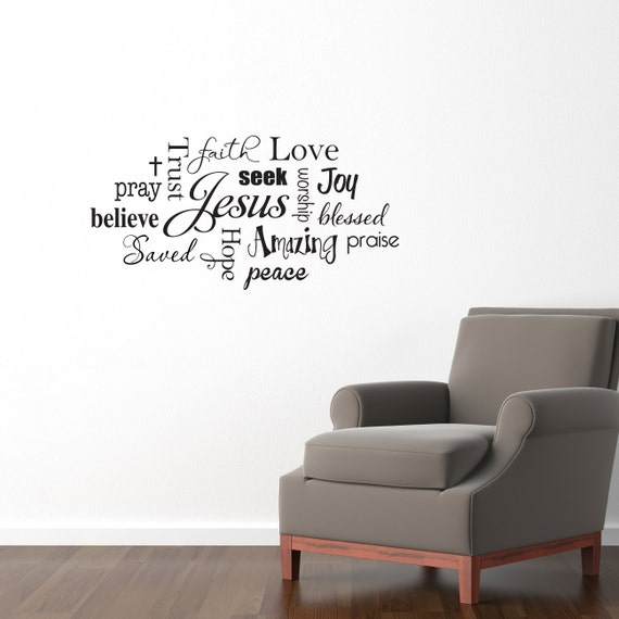 Nice Christian Wall Decal Jesus Subway Wall Art Sticker Praise