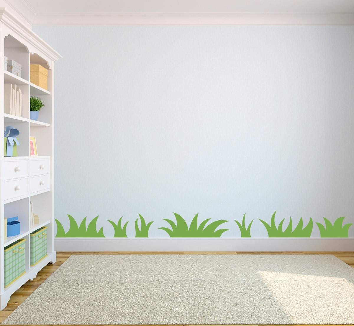 Wall Decor Childrens Rooms : Grass wall decal nature art for kids by