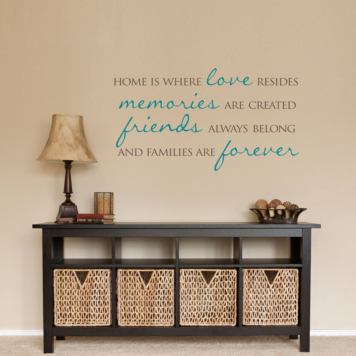 Home wall decal home is where love resides families are details home is where love resides wall decal amipublicfo Gallery