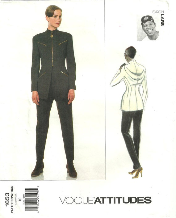 1990s Byron Lars jacket and pants pattern - Vogue 1653