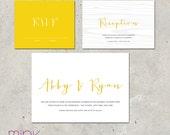 "modern wedding invitations - ""Notable"""