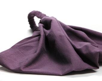 Headscarf Eggplant Purple Extra Wide Headscarves Head Scarf Head Wrap Solid (#2602) S M L X