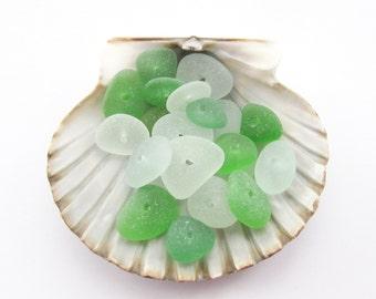 Drilled Seaglass Beads, Beach Glass Jewelry Supply, Genuine Sea Glass Jewelry Making