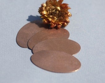 Copper Oval 55mm x 33mm for Blanks Enameling Stamping Texturing