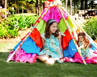 Tent PDF Sewing Pattern, Little Lizard King - Tee Pee Sewing Tutorial, PDF Fort Instructions