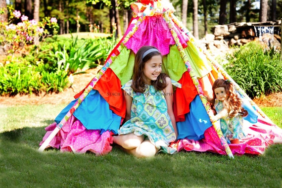 Tent Sewing Pattern, Little Lizard King - Tee Pee Sewing Tutorial, PDF Fort Instructions