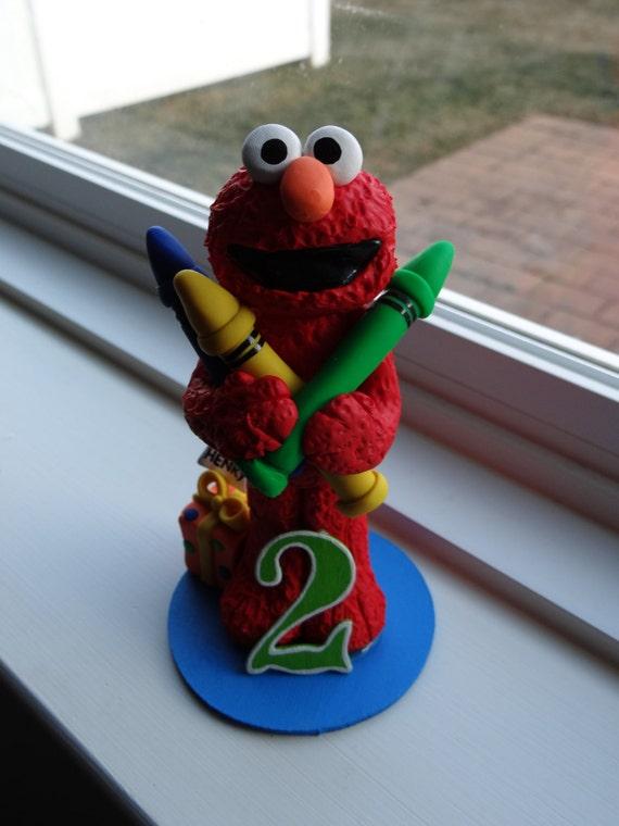 Elmo Cake Toppers Decorations : Elmo Cake Topper
