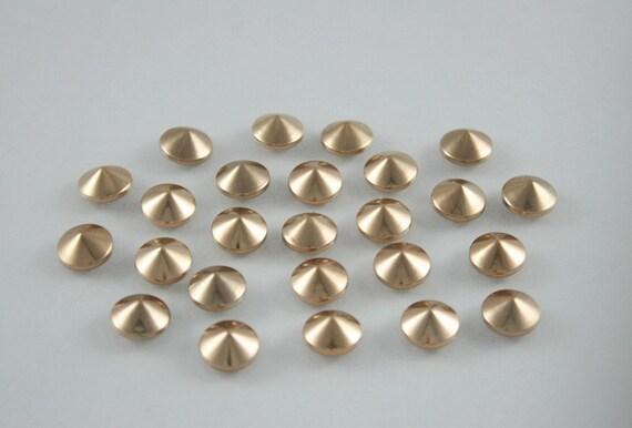 100 pcs. Dark Gold Cone Rivets Rapid Studs Decorations Findings  8 mm. C RDG8 JL