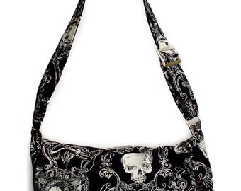 Victorian Gothic Motif Inspired Messenger Bag