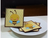 B is for BeeUtiful Bumble Bee- Blank Cards Thank You Cards Mini Cards ( Set of 4)
