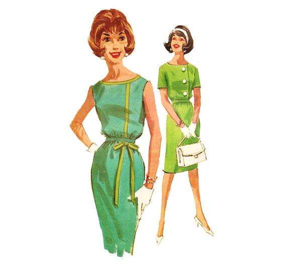 1960s Womens Blouson Dress - McCall's 6187 Vintage Sewing Pattern - 34 Bust UNCUT