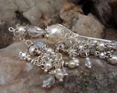 Hair Stick Wedding Hair Accessories Cream Pearl and Crystal Bridal Hair Stick Hair Pin Wedding Jewelry - Ella