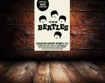 Beatles 1964 Cleveland Concert Poster