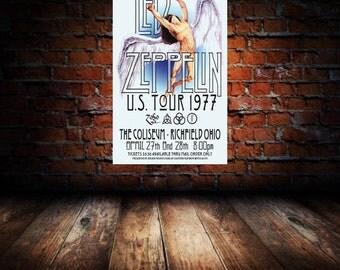Led Zeppelin 1977 Cleveland Concert Poster