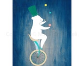 Concentrate & Balance - art print featuring a polar bear