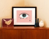 Retro Record Player Eye of the Needle 8 x 10 Art Print - Free Shipping in US