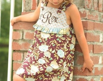 PDF Wrap Dress Pattern - Daphne Wrap Dress and Top, Size 6 Month - 10 Years by The Cottage Mama