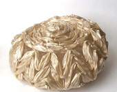 Ivory Straw Hat - Vintage Cellophane Millinery - Cream, Off-white - Wedding