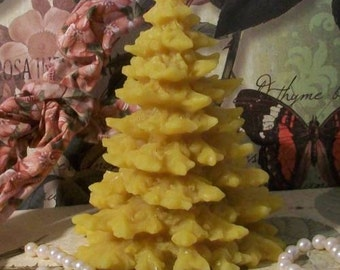 Beeswax Christmas Tree Candle Choice of Color