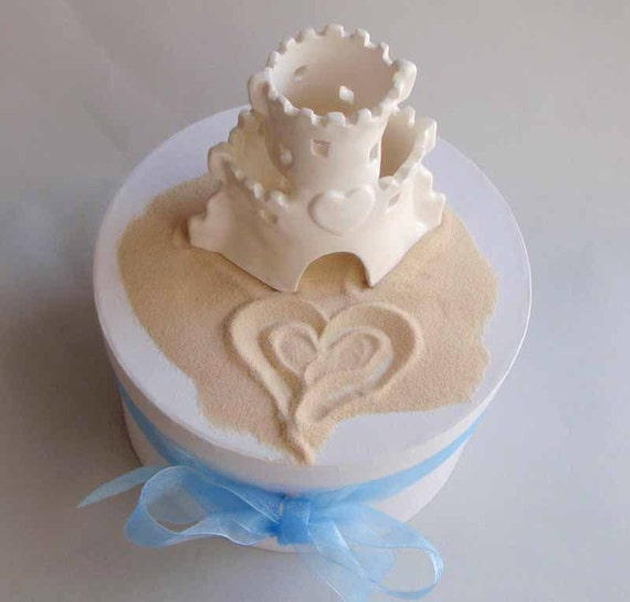 sandcastle wedding cake topper wedding or anniversary cake topper sand castle with 19667
