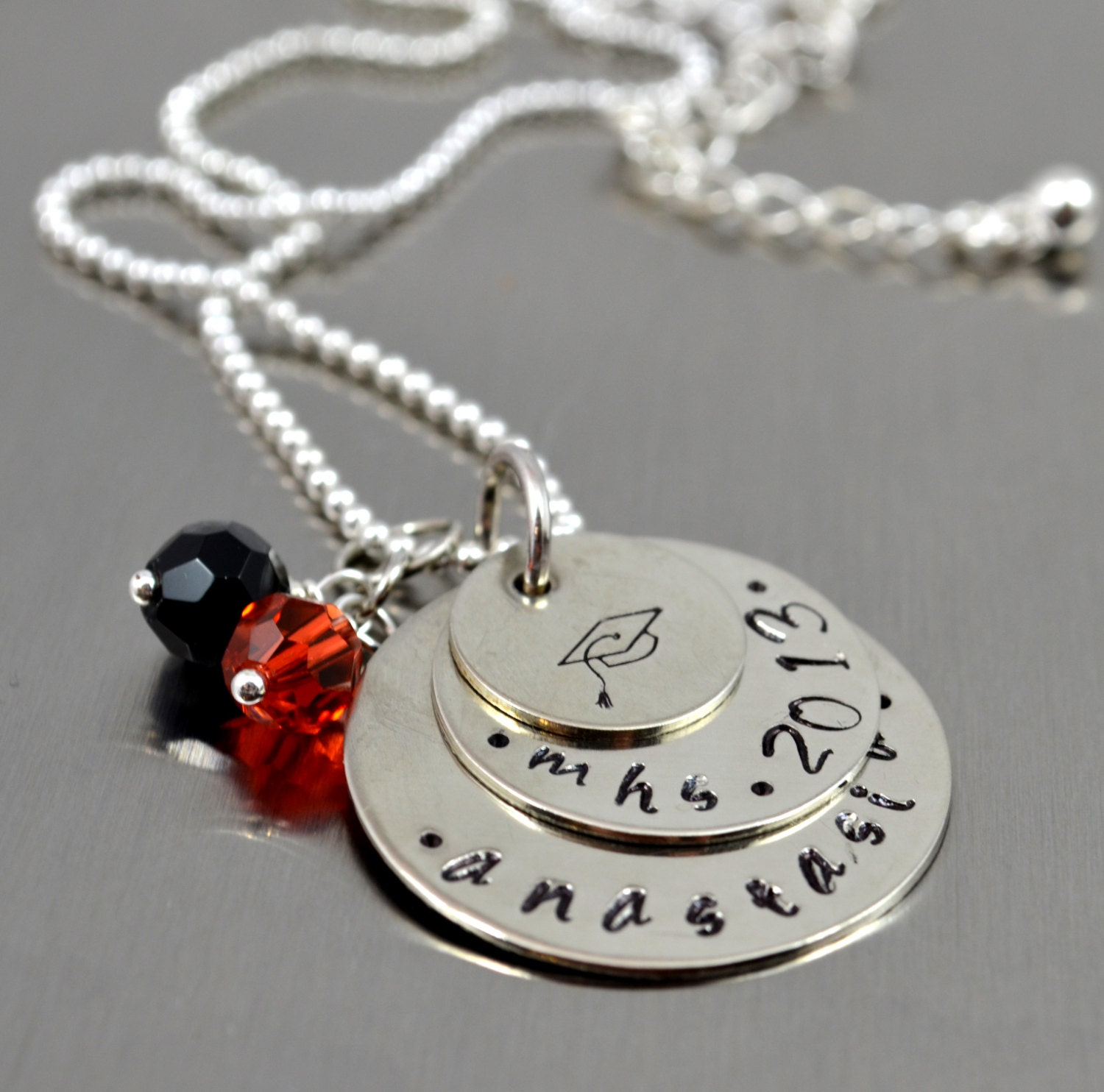 personalized graduation necklace senior necklace class of