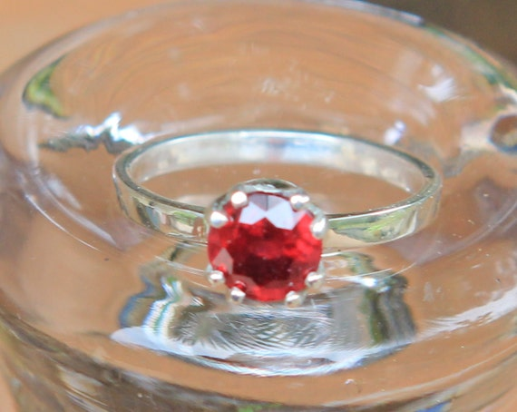 Hand Forged 1.5ct Blood Red Ruby Solitaire SZ 7