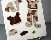 Teddy Bear Outfit Handmade for Build A Bear Paper Crafted Boy Teddy on Tin Box Magnetic Clothes