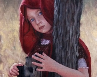 Little Red. Signed Print of an Original Oil Painting