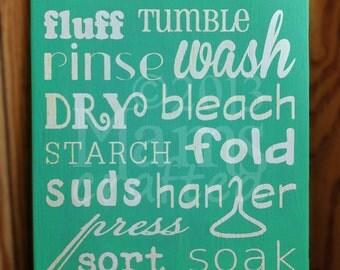 Laundry Typography Subway Art (10x14)