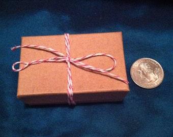 "Kraft Jewelry Gift boxes  2 5/8"" x 1 5/8"" x 1"" set of 10"