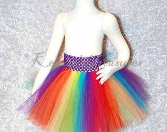 3- Piece Customizable Rainbow ExplosionTutu and Headband Set - Size 6 months - Chid 6