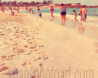 Foot Prints and Sand, Beach, signed photo, beach city, ocean,digital art photo, wall art, home decor, Resort art, beach image, office art