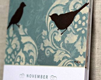Birthday Calendar, Mothers Day, Geburtstag Kalender, Bird Art