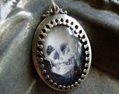 Victorian Skull Necklace - All Is Vanity Famous Optical Illusion Pendant